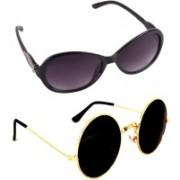 Criba Round, Cat-eye Sunglasses(Black, Grey)