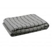 WOOOD Rijk plaid grijs 120x145 cm polyester