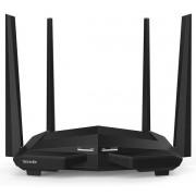 Router Wireless Tenda AC10, Gigabit, Dual Band, 1200 Mbps, 4 Antene externe (Negru)