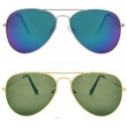 Ivonne Round Sunglasses(Blue, Green)