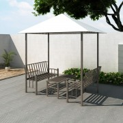 vidaXL kerti pavilon asztallal és paddal 2,5 x 1,5 x 2,4 m