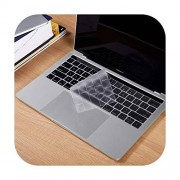 BSbattle Fundas de teclado para MacBook Pro A1706 A1989 A2159 de 13 pulgadas con Touch Bar e Touch ID TPU a prueba de polvo transparente 2019 2018 silicona-A1706 EU TPU-