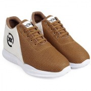 3 Inch Brown Hidden Height Increasing Sport Shoes for Cricket Football Basketball etc.