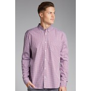 Mens Southcape Casual Shirt - Red/White Check
