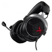 Creative Sound BlasterX H5 Cuffie con Microfono da Gioco Analogiche Professionali, Nero