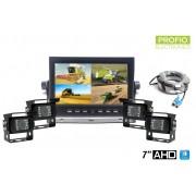 """Cuvacie kamery do auta s monitorem set 7"""" HD + 4x HD kamera"""