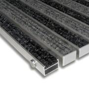 Textilní hliníková čistící vnitřní vstupní rohož Alu Standard - 100 x 100 x 2,2 cm FLOMAT