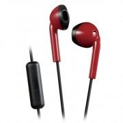JVC hoofdtelefoon in-ear + microfoon rood-zwart HA-F19M