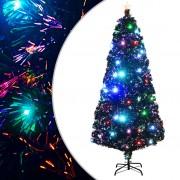 vidaXL Изкуствено коледно дърво със стойка/LED, 180 см, 220 клончета