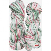 M.G Multi Cream Green 200 gm hand knitting Soft Acrylic yarn hank wool thread for Art & craft Crochet and needle