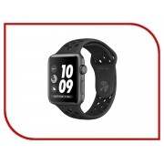 Nike Умные часы APPLE Watch Nike+ 38mm Space Grey Aluminium Case with Anthracite-Black Nike Sport Band MQ162RU/A