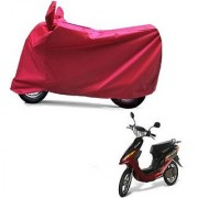 Intenzo Premium Full Red Two Wheeler Cover for Yo Bike Yo EXL