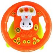 Planet Of Toys High Chair Educational Steering Wheel (Lights Music) For Kids / Children