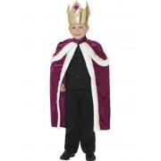 Pelerina si Coroana de Rege pentru copii mov