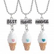 Set Medalioane Lantisoare BFF Best Friend Friends Forever Inghetata M2
