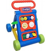 Toyshine My First Step Baby Activity Walker, Push and Pull Toy Activity Baby Walker, Blue - Toddler Learning Toys for 1-1.5 Year Old