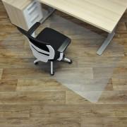Čirá podložka pod židli na hladké povrchy - délka 200 cm, šířka 120 cm a výška 0,15 cm