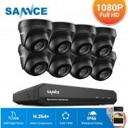 SANNCE Kit Vidéosurveillance cctv système 8CH TVI enregistreur + caméra dome