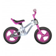 Bicicleta Sin Pedales Balance Bike Rosa Con Led - Toimsa