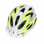 18 Vents PC + EPS casco de bicicleta con visera para el ciclismo verde + blanco