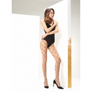 Omero Angie - Mock fishnet tights with large scale diamond pattern
