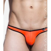 Mategear Nan Song Tapered Sides V Front Special VII Ultra Pouch Bikini Swimwear Orange 1220401