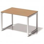 BISLEY Schreibtisch CITO, O-Gestell HxBxT 740 x 1200 x 800 mm Gestell weiß, Platte Buche