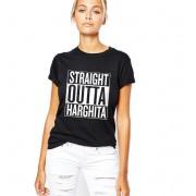 Tricou dama negru - Straight Outta Harghita