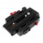 Duola P200 Placa QR de la abrazadera de liberación rápida para Manfrotto 501 500AH 701HDV 503HDV Q5 7M1W
