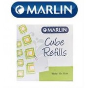 Marlin Cube Refills White 10x10cm in shrink-wrap,