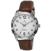 Titan Analog White Dial Men's Watch -1585SL07