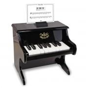 Vilac Piano preto em madeira, 18 teclas com pautas, 8296Preto- TAMANHO ÚNICO