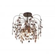 Trio Leuchten Plafond 'Serga' Retro brunrost/metall - Passande för LED / Inomhus