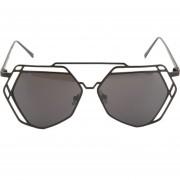 EY Polígono Hueco Verdaderos Vasos De Película En Color Gafas De Sol De 9109 Tabletas Grises Bordeados De Negro