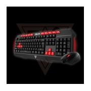 Kit Gamer de Teclado y Mouse Gamdias Ares V2 Essential Combo Incluye Ares II + Demeter II, Alámbrico, USB, Negro, Rojo
