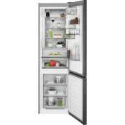 Combina frigorifica AEG RCB736E5MB, No Frost, 360 L, H 201 cm, Display LCD, Racire rapida, Inghetare rapida, Clasa energetica A++, Gri inchis