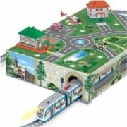 Trenulet de jucarie Pequetren Metropolitan City Tram