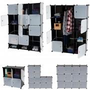 Regalsystem Sydney T306, Steckregal Garderobe Kleiderschrank, 8 Boxen je 37x37x47cm schwarz ~ Variantenangebot
