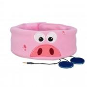 Růžová dětská čelenka se sluchátky - Prasátko