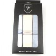 VOICI FRANCE Men's White Handkerchiefs Super big size 100 Soft Cotton Hankie