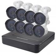 COTIER A8B2 8Ch 720P 1.0 megapixel Bullet IP-Camera NVR Kit de visie van de nacht van de steun / bewegings-detectie IR afstand: 20m