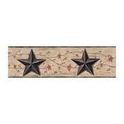 York Wallcoverings Estrella de granero y borde de vid, Border, khaki tan/black