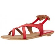 Bata Women's Westwood Sandal Red and Beige Fashion Sandals - 6 UK/India (39 EU) (5615121)