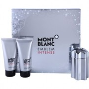 Montblanc Emblem Intense set cadou I. Apa de Toaleta 100 ml + After Shave Balsam 100 ml + Gel de dus 100 ml