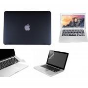Case Carcasa + Protector De Teclado / Pantalla / Trackpad Para Macbook Pro 13'' Touch Bar Model (A1706) -Negro