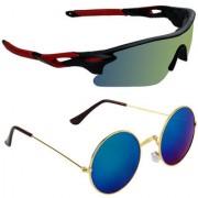 Zyaden Combo of 2 Sunglasses Sport and Round Sunglasses- COMBO 2738