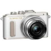 Aparat Foto Mirrorless Olympus E-PL8 Pancake Zoom Kit, Body, 16.1 MP, Filmare Full HD + Obiectiv EZ-M1442EZ (Alb/Argintiu)