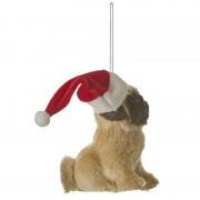 Merkloos 1x Kerstboomversiering hanger Mopshond 11,5 cm