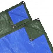 vidaXL Regnskydd 15x10 meter PE 210 gsm grönt, blått
