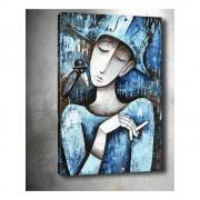 Tablo Center Obraz Tablo Center Girl With Cigarette, 40 x 60 cm